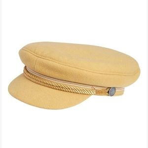 Camel wool newsboy cap